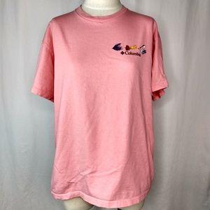 Columbia Pink Fishing Lure Tee Shirt XL